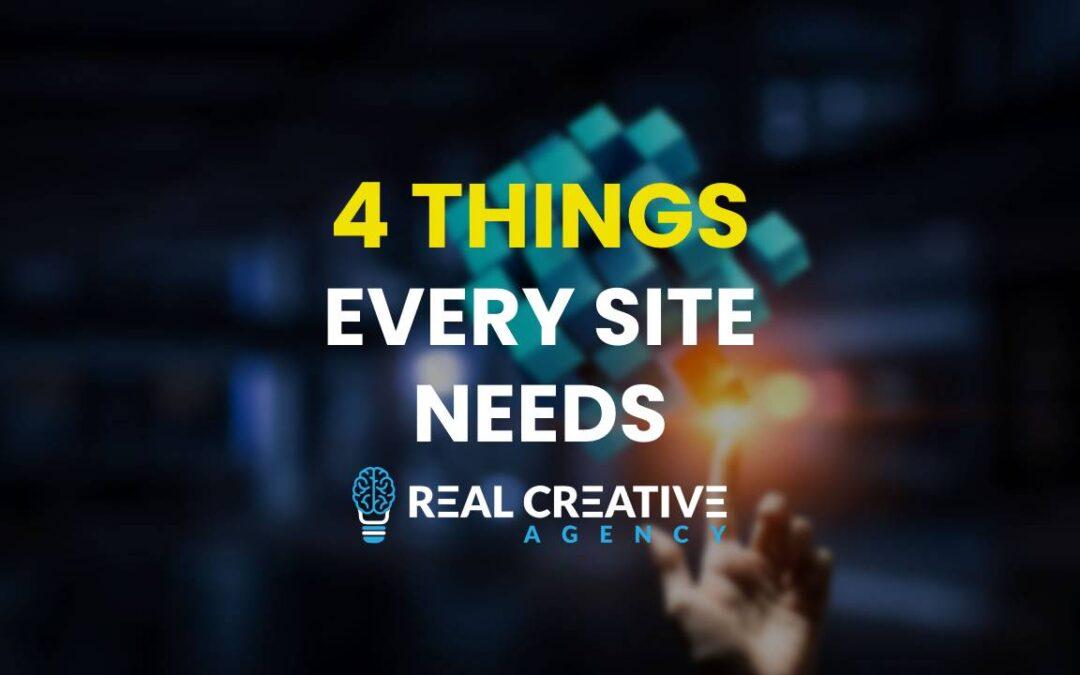 4 Things Every Website Needs